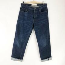 GAP Vintage Straight Frayed Hem Crop Button Fly Jeans - Size 28 - $18.42