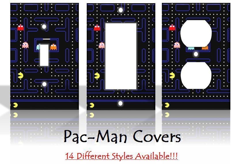 Pac-Man Pacman Nintendo Arcade Games Light Switch Covers Home Decor Outlet for sale  USA