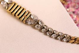 AUTH Christian Dior 2019 Dio(r)evolution CRYSTAL AGED GOLD BRACELET CUFF BANGLE image 6