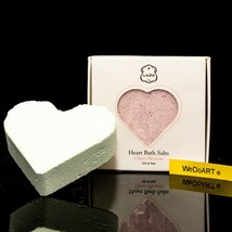 Laline Lot 2 X Box Bath Bomb - Heart Bath Salts Cherry Blossom 2x100g - $21.68
