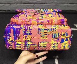 BRAND NEW AUTH CHANEL RUNWAY PAINT SPLATTER PINK MULTICOLOR QUILTED BACKPACK  image 5