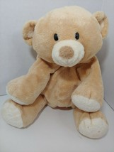 Ty Pluffies Woods Tan cream Teddy Bear bean bag stuffed animal 2010 TyLux  - $12.86