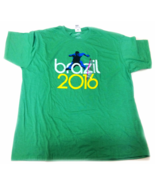 Mad Engine Mens Athletic Fit T-Shirt Olympic Rio Brazil 2016 Green 2XL - $14.99