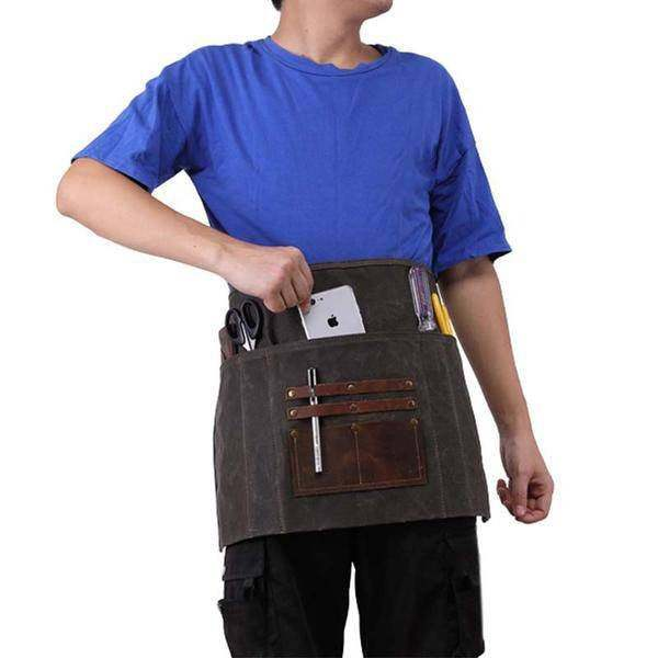 On Sale, Waxed Canvas Gardening Apron, Multifunction HandCrafted Apron, Waterpro image 1