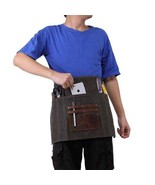 On Sale, Waxed Canvas Gardening Apron, Multifunction HandCrafted Apron, ... - $80.00