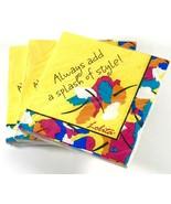 NEW 3 Packs Lolita Cocktail Napkins Always Add a Splash of Style Yellow ... - $12.99