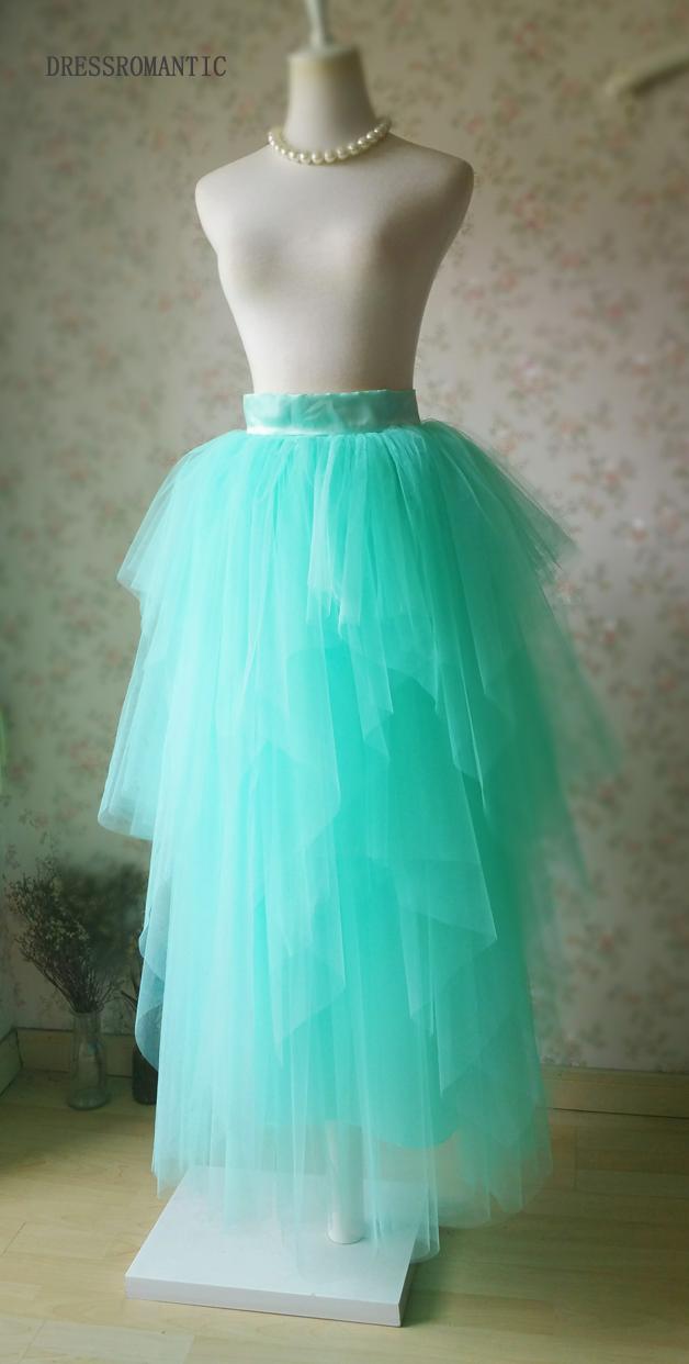 Adult Princess Skirt Mint Green Aqua Long Tulle Skirt Prom Skirt Plus Size NWT