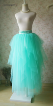 Adult Princess Skirt Mint Green Aqua Long Tulle Skirt Prom Skirt Plus Size NWT