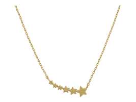Dainty Metal Shooting Stars Pendant Necklace - $15.95