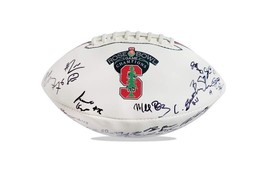 2015 Stanford Cardinal team signed football w/Certificate autographed (41) - $203.94