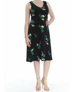 New $89 Vince Camuto Crisscross-Back A-Line Sleeveless Dress Black Size ... - $32.83