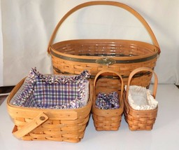 5 Traditions Family Basket & Protector Longaberger Plus More Collection - $139.99