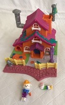 Polly Pocket Dog House Complete with Dogs Bluebird Toys 1994 Animal Wond... - $23.75