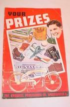 1920S 30S CROWELL PUBLISHING MAGAZINE SALES JUNIOR SALESMAN PRIZE CATALOG - $20.84