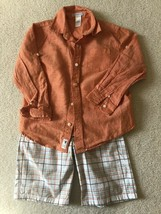 Janie & Jack and Gymboree Spring/Summer Outfit, Boys Shirt and Shorts, S... - $14.01