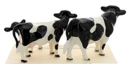 Hagen-Renaker Miniature Ceramic Cow Figurine Holstein Bull Cow and Calf Set image 2