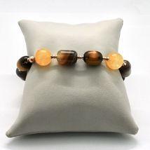 Armband 925 Silber Laminat Rosa Gold mit Tigerauge Jade Chalcedon image 4