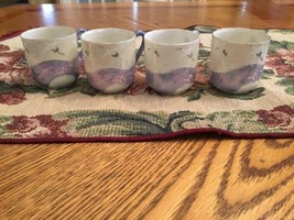 4 Beautiful Demitasse Luminescent China Teacups - $5.00
