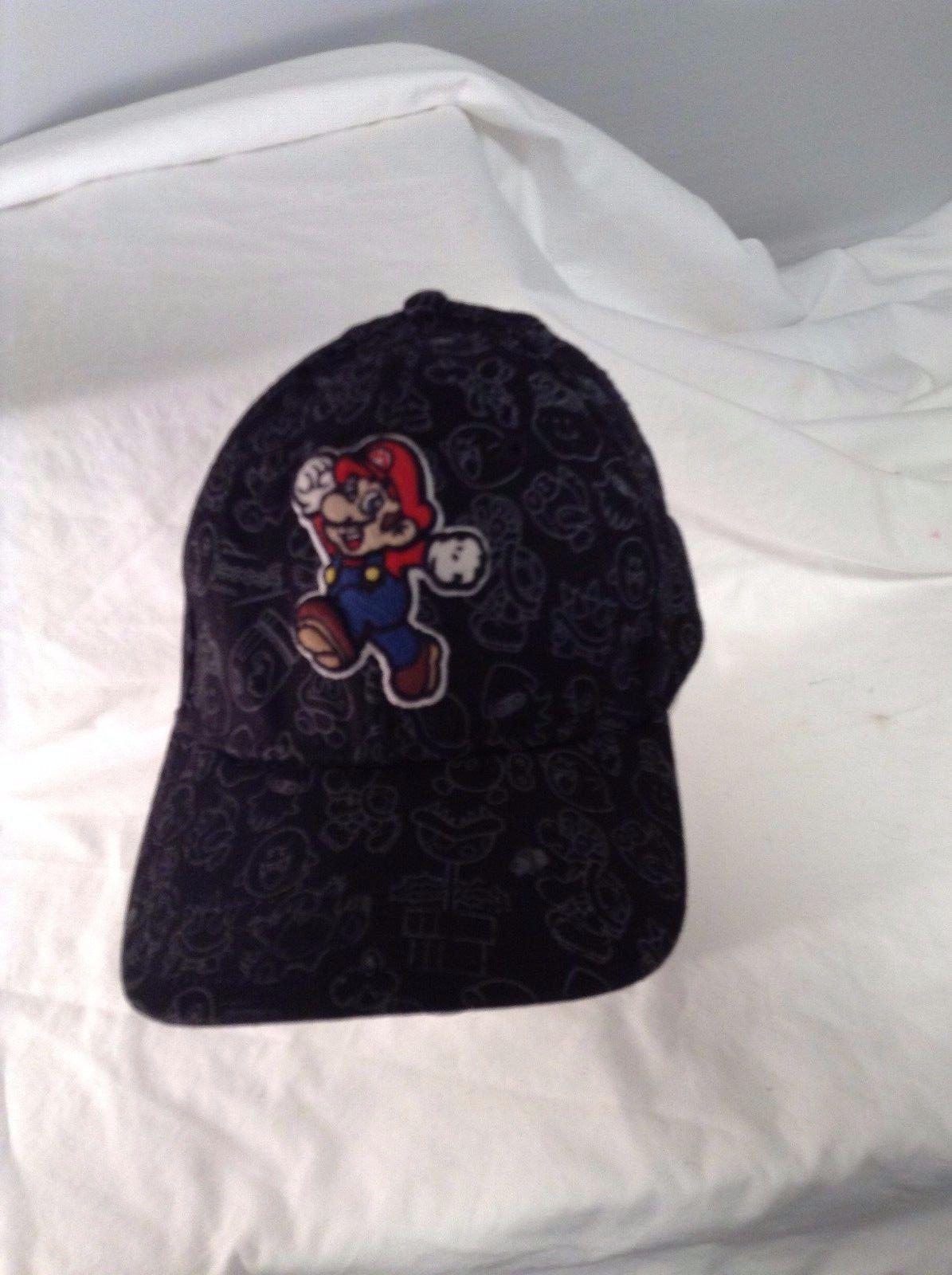 2822e4ed755 Super Mario Black Hat Cap Adult Nintendo One and 50 similar items. S l1600