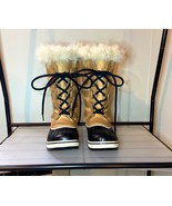 Sorel Waterproof Tofino Cate Boots Curry & Black Size 6 - $110.00