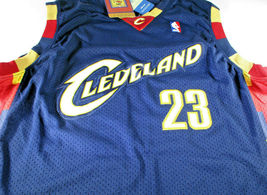LEBRON JAMES / AUTOGRAPHED CLEVELAND CAVALIERS PRO STYLE BASKETBALL JERSEY / COA image 2