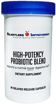Relentless Improvement Probiotic Blend with PreforPro Prebiotic Targets Lower Di