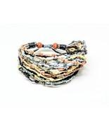 Handcrafted Brown Tones Knot Wax Cotton FAIR TRADE Womens BRACELET Wrist... - $8.09