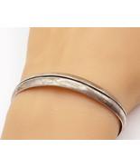 MEXICO 925 Silver - Vintage Petite Linear Etched Detail Cuff Bracelet - ... - $61.86