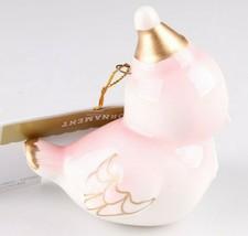 2018 Target Wondershop Retro Pink Gold Ceramic Bird Christmas Ornament New wTag image 2