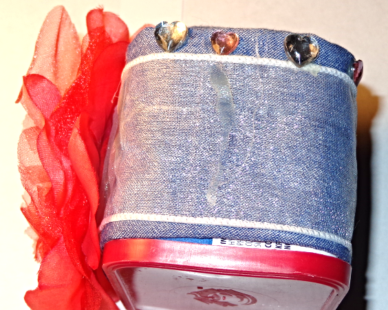 Set of 2,Square container used as decorative pin cushions for sewing