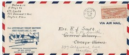 33rd ANNIVERSARY OF WRIGHT BROTHERS FIRST FLIGHT FLOWN MAIL DAYTON OH 12... - $3.58