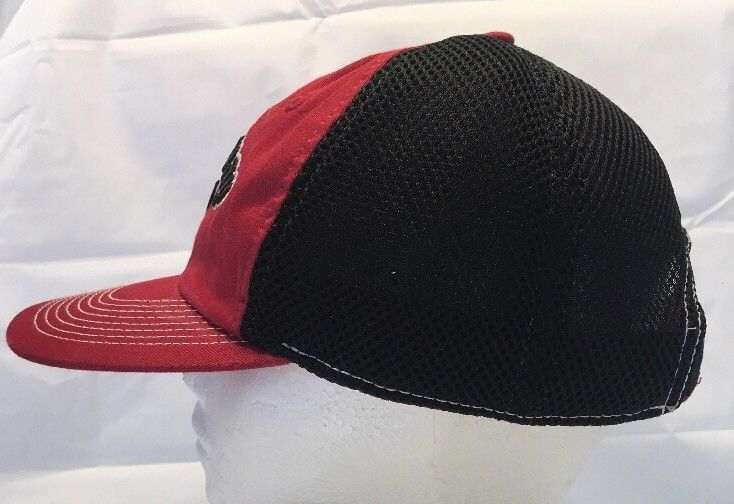 ee26a9413f4 Red Callaway Golf Hat with Black Mesh Logo on Back Strap Hook and Loop HTL