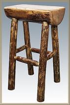 """Half Log Bar Stools Made of REAL PINE LOGS Amish Made 30"""" Lodge Cabin Ba... - $242.06"""