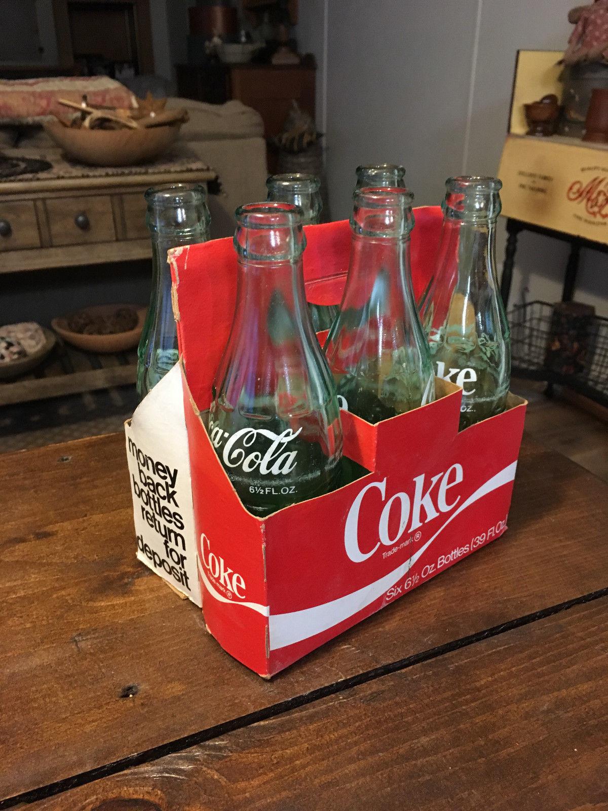 Vintage 6 Pack 6 12 Oz Coca Cola Coke Green