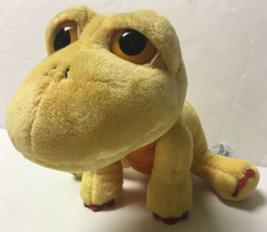 RUSS Berrie Lil Peepers Dany Dinosaur Yellow Orange Big Eyes Stuffed Plu... - $24.00