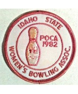 IDAHO STATE WOMEN'S BOWLING ASSOCIATION POCATELLO 1982 PATCH - $5.00