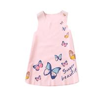 (pink size 2T)2-7Y Summer Kids Girls Sleeveless Dress Girls Ice silk Clo... - $20.00