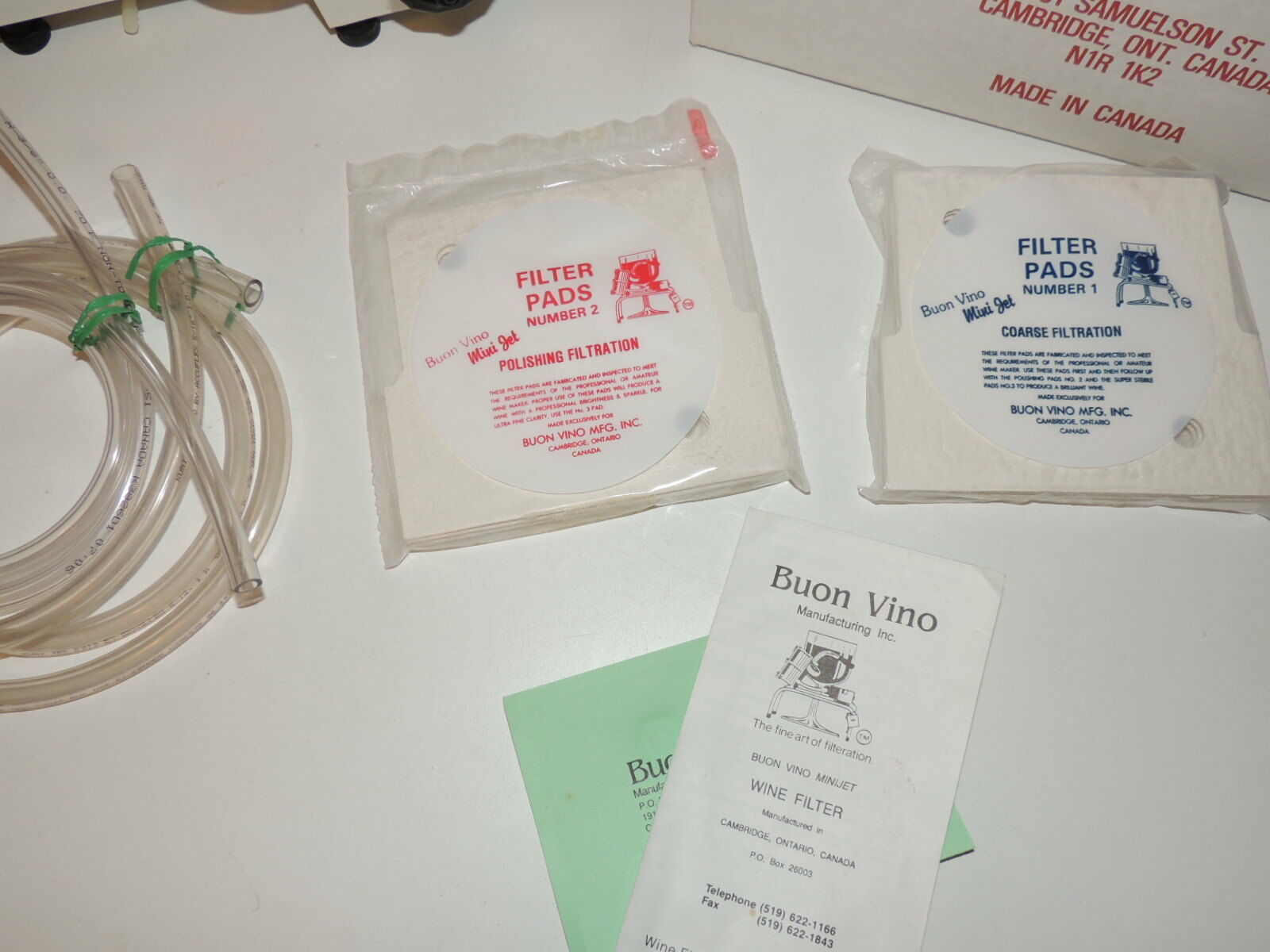 BUON VINO MINI-JET WINE FILTER Model MJT93089 Used Working w 2 packs Filters image 6