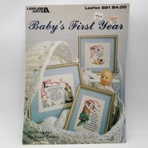 Baby's First Year Leisure Arts 1990 Counted Cross Stitch Leaflet 881 Carol Emmer - $12.99