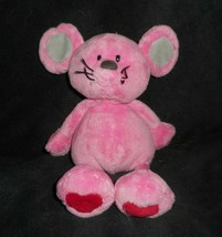 """11"""" Ty Pluffies 2005 Patter The Baby Pink Mouse Stuffed Animal Plush Toy Soft - $14.03"""