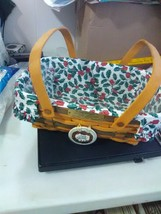 Longaberger Basket - Christmas collection - Holiday Cheer 1996 - Liner/P... - $22.95