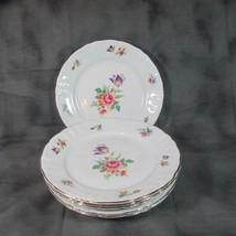 """6 Vintage Winterling Bavaria 7 3/4"""" Lunch Plates Meissen Gardens (?), 48... - $17.75"""