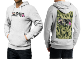 Camo Wild Hunter White Cotton Hoodie For Men - $39.99