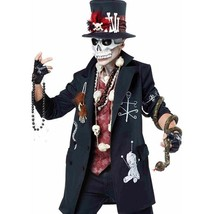 California Costumes Voodoo Dude Skull Top Hat Adult Mens Halloween Costu... - $51.99