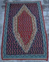 2'3 x 3'7 Ft, Antique Caucasian Turkish Persian Tribal Vintage Senneh K... - $179.10