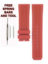 Compatible Burberry Sport BU7706 23mm Red Diver Rubber Watch Strap BRR100 - $28.71
