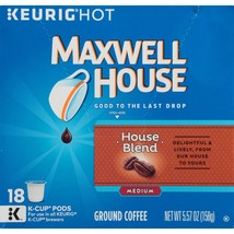 Maxwell House House Blend Coffee 18 to 90 K cup Pick Any Quantity FREE S... - $14.99+