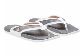 Adidas Women's White Grey Adilette CF+ Summer Sandals Flip Flop Thongs S81199