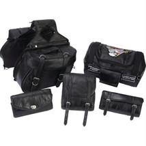 6pc Rock Design Genuine Buffalo Leather Motorcycle Luggage Set- Lea - $97.32 CAD