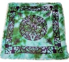 "Green Man Altar Cloth 18"" x 18"" Wicca Pagan Celtic Ceremonial Ritual Mag... - $7.61"